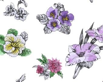 Flower Temporary Tattoos - 6 Modern Temporary Tattoos - Floral Tattoos - Floral Temporary Tattoos - Colourful Temporary Tattoo