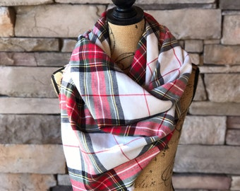 Blanket Scarf / Plaid Blanket Scarf / Tartan Scarf / Plaid Tartan Scarf / Oversized Scarf / Plaid Scarf / Mothers Day Gift / Oversized Plaid