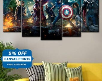 Dc Comics Wall Art dc comics justice league wall art comics canvas canvas