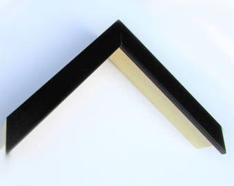 "Custom Frame, Black Wood 3/4"" Wide, 1 1/2"" High Made to Order"