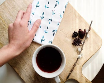 Servilletas de algodón orgánico - Decoración para una mesa bonita - Mantelería estilo nórdico - Servilletas con tonalidades suaves