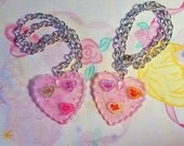 Anti Valentine's Day necklace, Conversation hearts resin jewelry candy heart insult chunky glitter statement necklace sarcastic gift