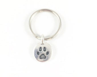 Paw Keychain, Paw Print Keychain, Pet Keychain, Small Gifts, Christmas Gift for Pet Lover Gifts, Pet Remembrance, Animal Memorial Pet Gift