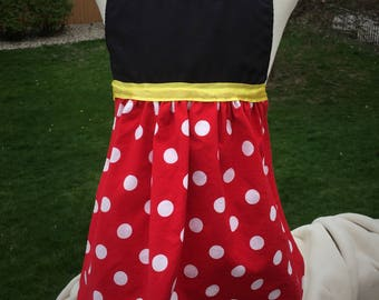 Disney Princess inspired dress up aprons ~Belle ~ Minnie Mouse ~ Costume ~ Make Believe