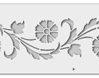 Wall stencil cornflowers 0593