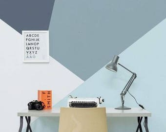 Large triangles self adhesive vinyl wallpaper, removable nursery mb083