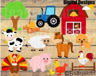 Farm Life Monogram Digital Cutting Files SVG PNG jpg dxf tractor animal t-shirt kid cow chicken pig horse iron on heat transfer decal 767C