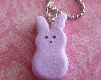 Easter Miniature Food Jewelry Marshmallow Bunny Gifts for Her Polymer Clay Food