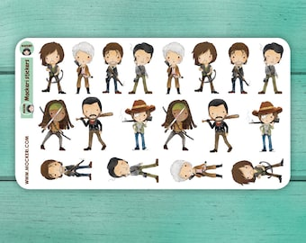 18 The Walking Dead Stickers / Planner Stickers / Decorative Stickers / TV show Stickers
