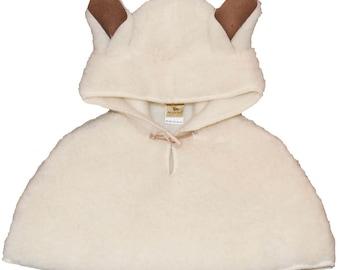Alwero Natural Wool Cape with Hood