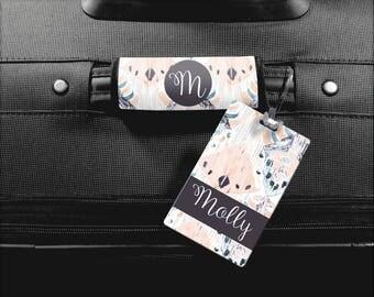 Monogram Luggage Tag, Personalized Luggage Handle Wrap, Personalized Tag, Luggage Finder, Bridesmaid Gift, Senior Gift