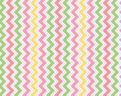 Little One Flannel Too! Zig Zag flannel fabric in Pink, Green and Yellow fat quarters and yardage by Kimberbell Designs for Maywood Fabric