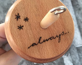 Always - Hand Burned Drop Spindle - MADE TO ORDER
