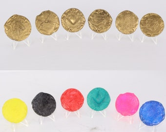 2017 Power Ranger coins! GOLD cosplay coins for morphers prop!
