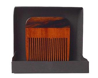 Two Tone Wedge Beard Comb W/ Gift Box