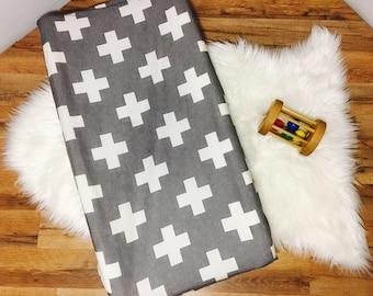 Custom Baby Bedding//Plus//Cross//Modern// Changing Pad Cover