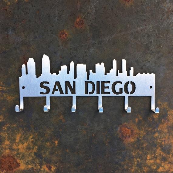 San Diego Skyline Key Hooks- stainless steel