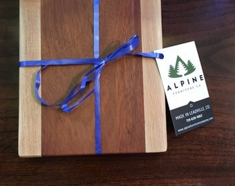 Oak and Cherry Wood Cutting Board Made in Colorado