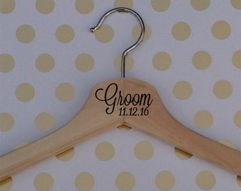 Wooden Wedding Hanger-Groom