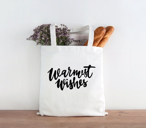 Warmest Wishes, Holidays, Holiday tote, Christmas gift, christmas cheer, christmas tote, gift, happy holidays
