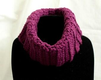 Purple Infinity cowl