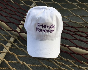Friends Forever - Pink Hat With Purple Lettering