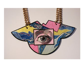 Handmade one of a kind EYE necklace