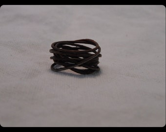 Rusty Wire Wrapped Ring