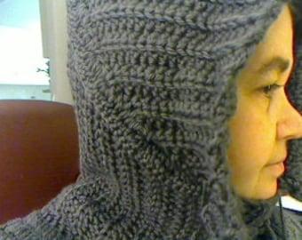 Crochet balaclava, capelet, hood, etc