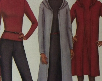 Love this---Butterick Wardrobe Pattern 6771---Sweater Coat, Dress, Duster, Turtleneck, Flared Pants, and Skirt***Size 6-8-10***UNCUT