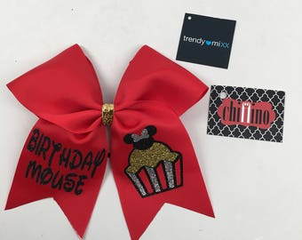 Birthday minnie mouse bow