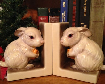 Ethan Allen Bunny Bookends Rabbit Bookends Nursery Or Play Room Books Home And