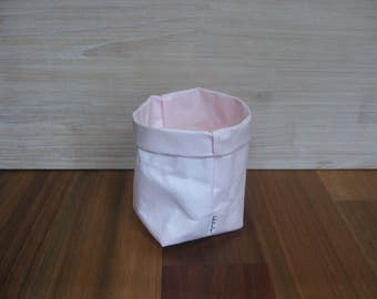 Washable Kraft Paper Storage Bag - MEDIUM Baby Pink