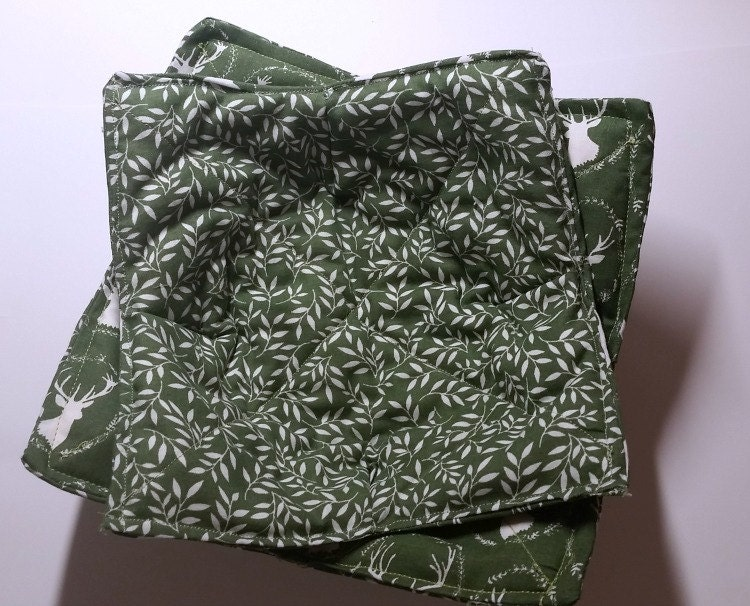 Reversible Microwave Bowl Cozy Quilted Hot Pad 100 Cotton