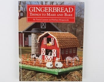 """GINGERBREAD Things to Make and Bake, 1992, Beautiful Illustrations, Professional Crafting, Excellent Cond., 136 Pgs., 11-1/4"""" X 9"""" x 5/8""""."""