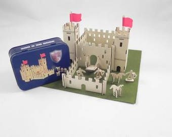 Castle in a tin - children's gift - castle - build your own - craft - children's craft