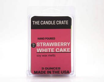Strawberry White Cake Scented Soy Wax Melts