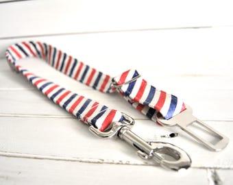 Pet Seat Belt - Dog Seat Belt - Car Accessories - Pet Safety - Stripes - Barber Shop - Postal - Barber Stripes