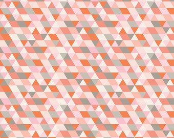 1 Yard Ava Rose by Deena Rutter for Riley Blake Designs-  5871 Coral Geometric