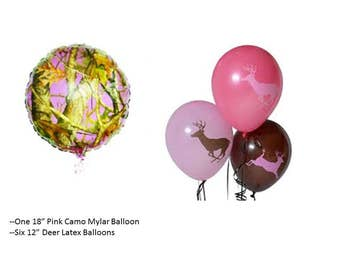 Pink Camo Balloons, Pink Camouflage Balloons