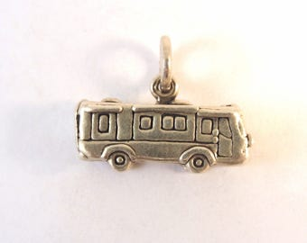 RV 3-D .925 Sterling Silver Charm Pendant New Motorhome Recreational Vehicle Camper Camping Travel Trailer vh21