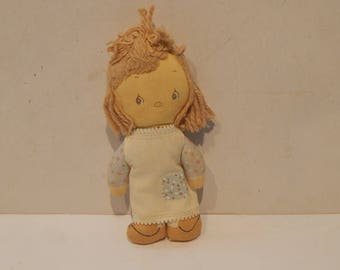 Vintage Knickerbocker Betsey Clark Rag Doll 1960s Holly Hobby Style