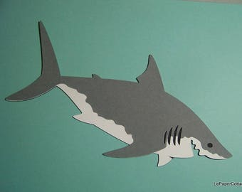Great white shark die cut