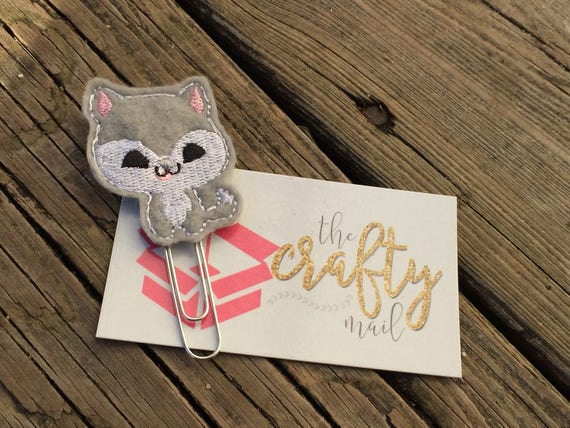 Adorable Husky Clip/Planner Clip/Bookmark.
