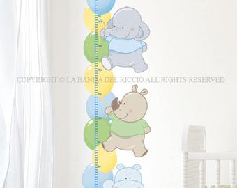 Baby Growth Chart Wall decals Baby Nursery Room Decor Growth Chart  Balloons