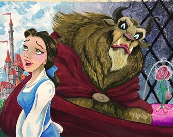 Beauty and the Beast -print