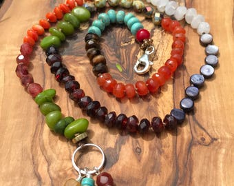 Boho earthy knotted necklace