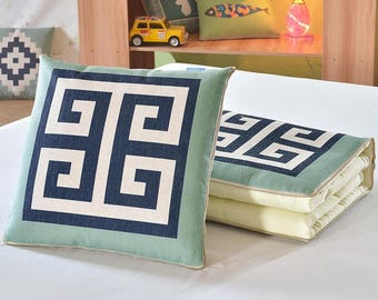 2 in1  Quilt Throw Pillows Sofa Cushions Couch Cushions
