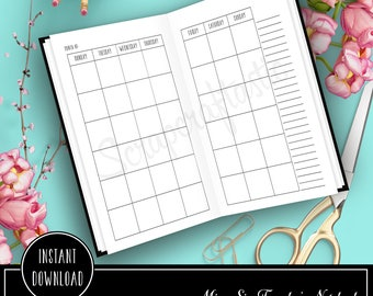 Month on Two Pages (MO2P) Micro Traveler's Notebook Printable Planner Insert Refill (20002)