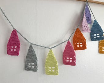 Crochet Bunting/Beach Hut Bunting/Little House Bunting